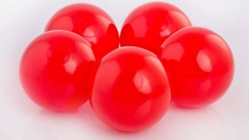 Ball-pool balls RED color