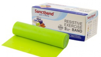 Gymnastic rubber - resistance band Sanctband ™ lime - medium resistance